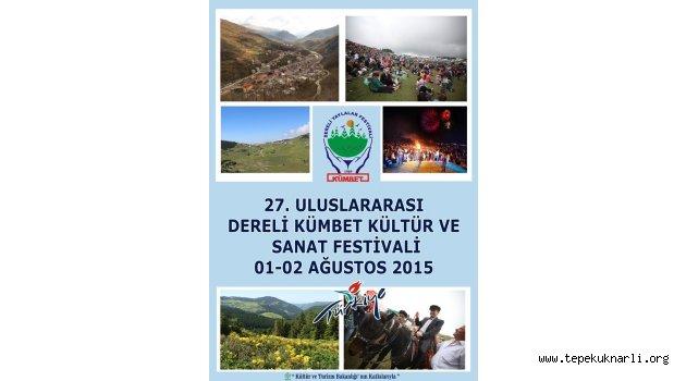 27. Uluslararası Dereli Kümbet Kültür ve Sanat Festivali