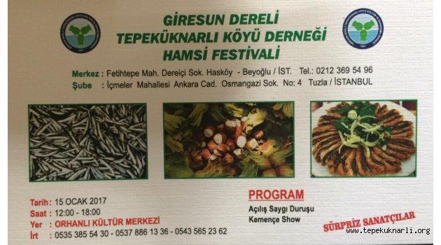 Tepeküknarlı Köyü 11. Hamsi Festivali 15 Ocak'ta Yapılacak
