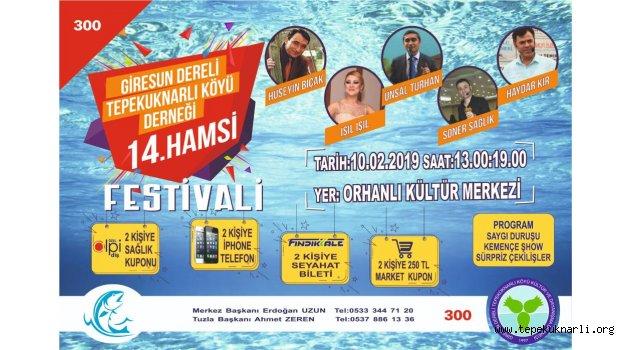 Tepeküknarlı Köyü 14. Hamsi Festivali 10 Şubat 2019'da Yapılacak