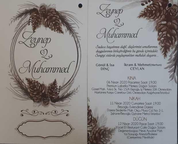 Düğün - Zeynep DİNÇ & Muhammed CEYLAN (19.09.2020)